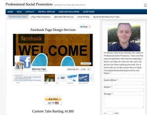 Professional Facebook Page Design